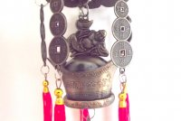 Buddha and Tortoise Wealth Ingot Hanging Bell Chime