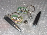 Bullet Key Ring / Secret Vial / Stash / Pill Keeper