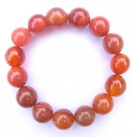 Carnelian Gemstone Crystal Big Power Bracelet
