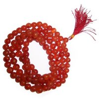Carnelian Gemstone Mala Prayer Beads - 108 - with Pouch