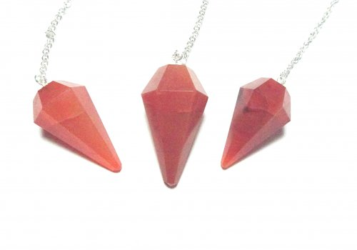 Carnelian Facetted Crystal Dowser / Pendulum