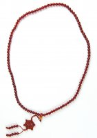 Carnelian Gemstone Wheel of Life Mala Prayer Beads - 108 - with Pouch