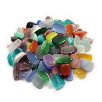 Cats Eye Tumblestone - Various Colours Available