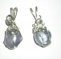 Celestite Wire Wrapped / Sculpted Gemstone Pendant