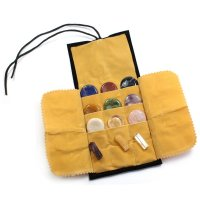 Chakra Healing Crystal Set in Velvet Pouch 15 pieces
