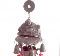 Buddha and Lantern Hanging Bell Chime