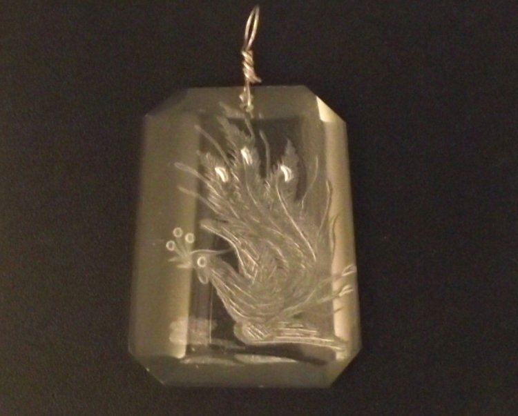Chinese bird laser etched pendant 20455 799 the gem tree chinese bird laser etched pendant larger image aloadofball Images