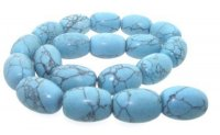 Chunky Polished Turquoise Howlite Beads