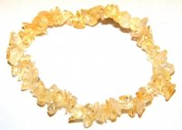Citrine Chip Bracelet / Emotional Balance / Luck