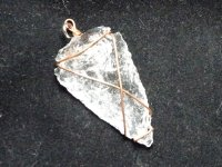 Quartz Arrowhead Wire Wrapped Pendant