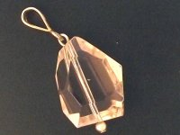 Clear Andara Facetted Rustic Cut Pendant