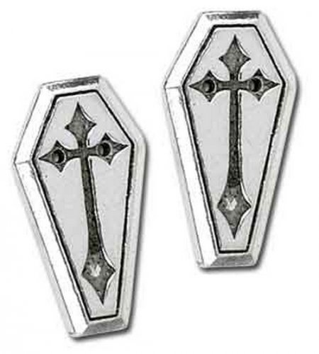Coffin Pewter Buttons (set of 6)