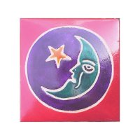 Moon and Star Leather Coin Purse Wallet