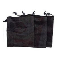 Black Cotton Drawstring Pouch