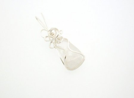 Danburite Wire Wrapped / Sculpted Gemstone Pendant
