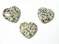Dalmatian Jasper Large Sleek Gemstone Heart