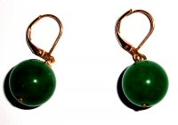Dark Jade Earrings - Leverback