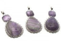 Double Polished Cabochon Amethyst Pendant