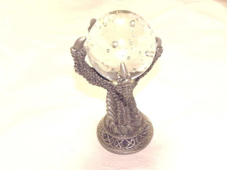 Pewter Dragons Claw Orb