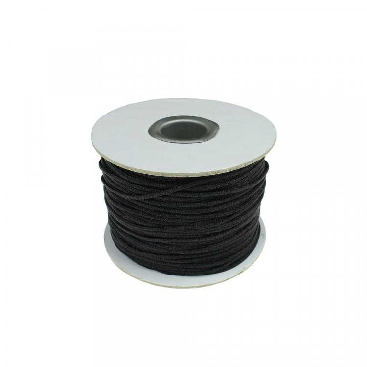2 Metres Black Elastic 1mm Cord