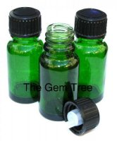 3 X Emerald Green Heart Chakra Bottles