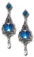 Empress Eugenie (Pair) Alchemy Gothic Pewter Earrings