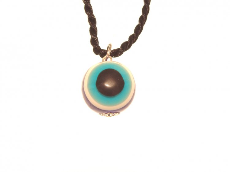 Evil Eye Pendant with cord