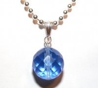 Faceted Blue Siberian Quartz Sphere Pendant