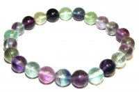 Fluorite Gemstone Crystal Power Bracelet (No Toggle)