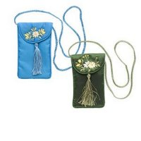 Flower Pouch with Strap