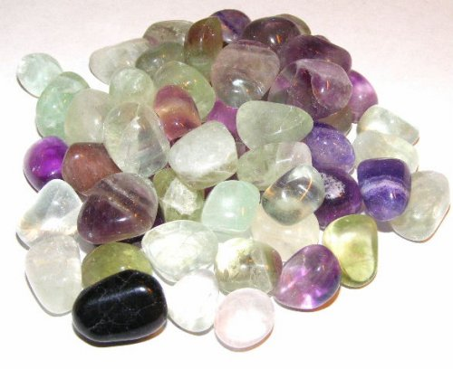 Fluorite Tumbled Gemstone Crystals - Set Of 5
