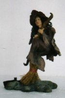 Witch Flying On Broomstick C