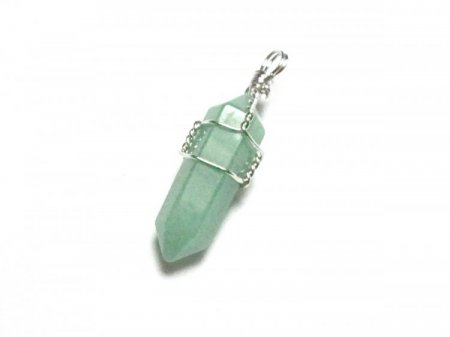 Green Aventurine Double Terminated Wire Wrapped Pendant