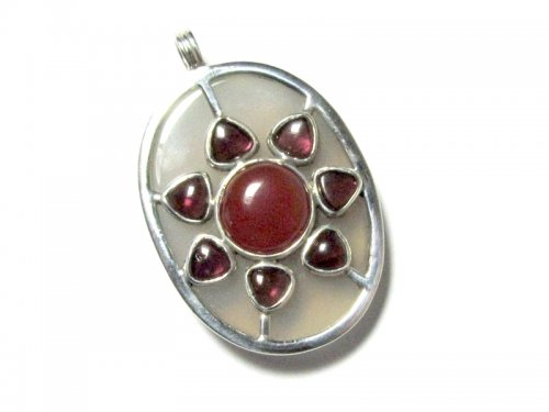 Sunshine Sterling Silver Mixed Gemstone Pendant