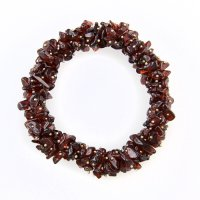 Garnet Gemstone Fused Chip Bracelet