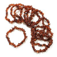 Garnet Chip Gemstone Chip Bracelet - Malaya