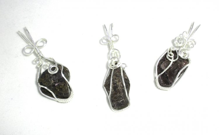 Garnet Wire Wrapped / Sculpted Gemstone Pendant