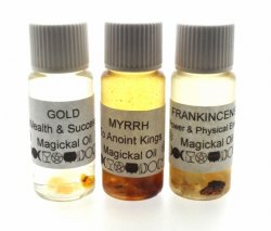 Set Of Gold Frankincense Myrrh Spell Oils