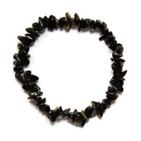 Gold Obsidian Gemstone Chip Crystal Bracelet