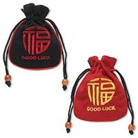Good Luck Burlap Drawstring Gift Pouch