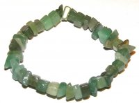 Green Aventurine Gemstone Chip Bracelet