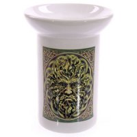Green Man Ceramic Oil Burner