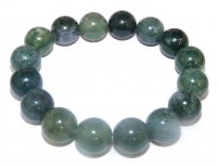 Green Moss Power Bracelet 12Mm Beads