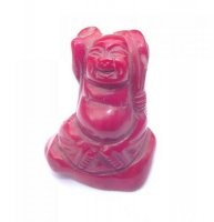 Red Coral Buddha Carving 5