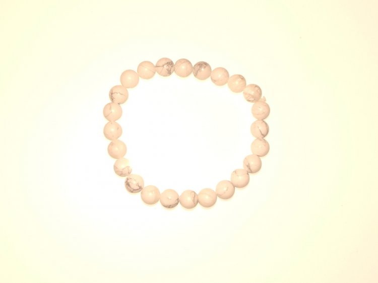 Howlite Gemstone Crystal Power Bracelet