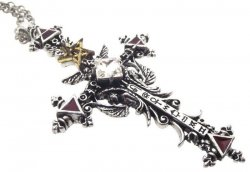 Illuminati Cross Pendant Alchemy Gothic