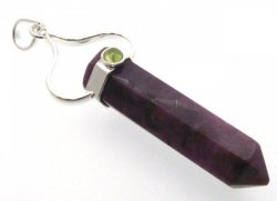Indian Ruby Point Pendant with Peridot