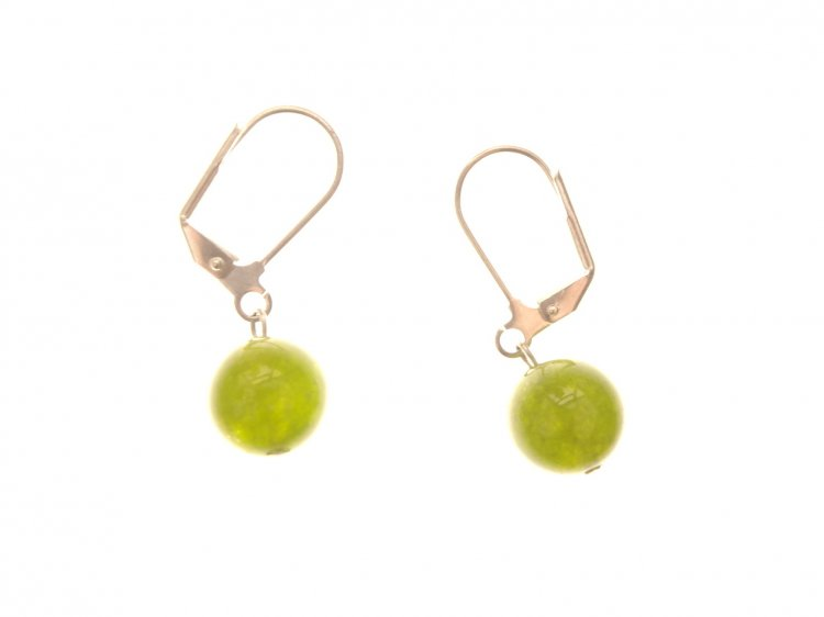 Jade Gemstone Heart Earrings