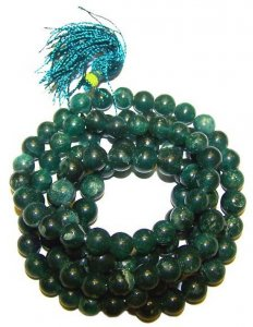 Jade Gemstone Mala Prayer Beads - 108 - with Pouch