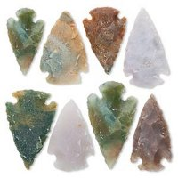Focal / Fancy Jasper Hand Knapped Arrowheads - Pack of 8